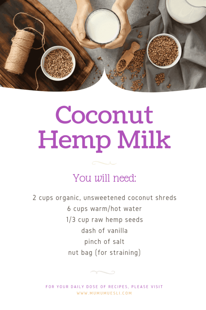 How to Make Homemade Coconut Milk with Hemp Seeds