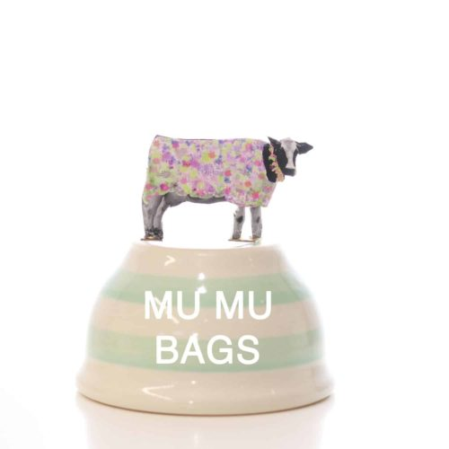 A bowl that says muesli bags from the muesli shop