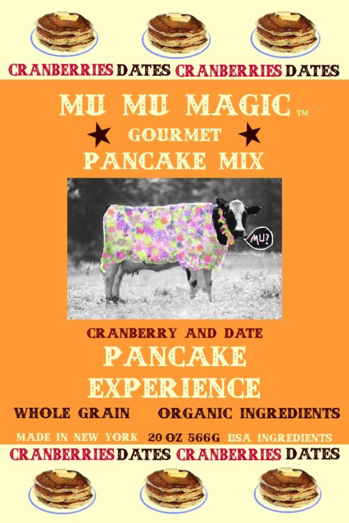 A cow talking about healthy pancakes