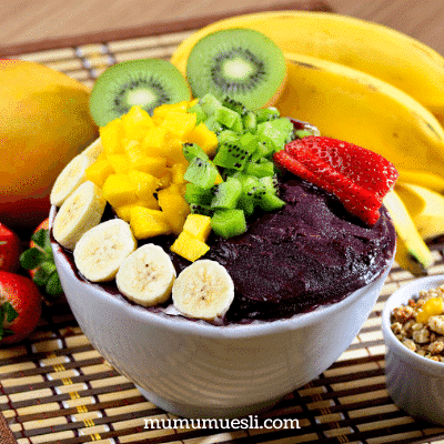 Make Acai Fruit Bowl at Home with Muesli