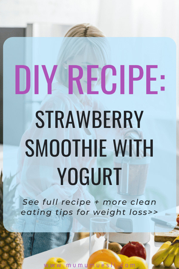 Strawberry Smoothie Recipe with Yogurt and Date Syrup