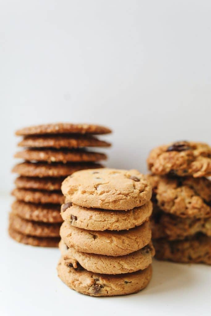stacks of oatmeal cookies