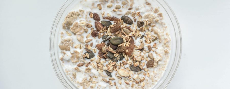 bowl of bircher muesli