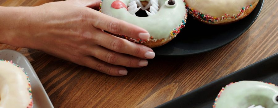 halloween donuts for breakfast