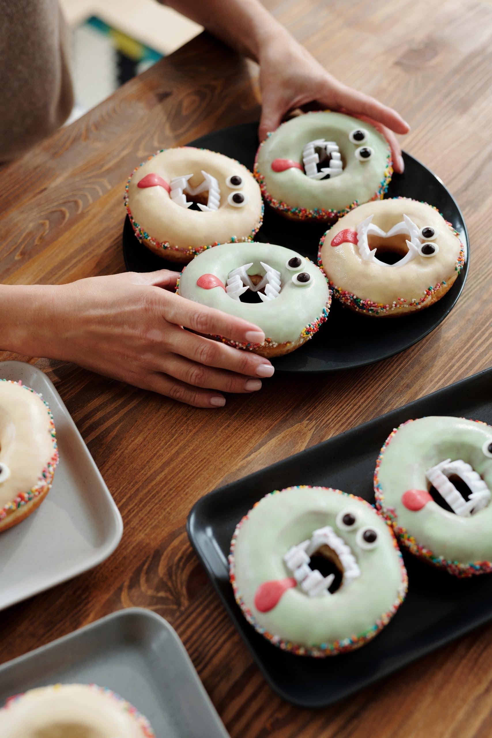 halloween breakfast donuts